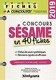 Concours Sésame - 40 fiches méthodes, savoir-faire et astuces