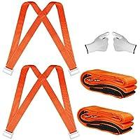 Correas para levantar y mover, sistema de movimiento para 2 personas con almohadilla de gomaespuma de 13 pies, mueve objetos con peso de hasta 800Lbs - guantes antideslizantes de obsequio, por STWIE