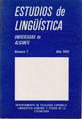 ESTUDIOS DE LINGÜÍSTICA 1991. Nº 7