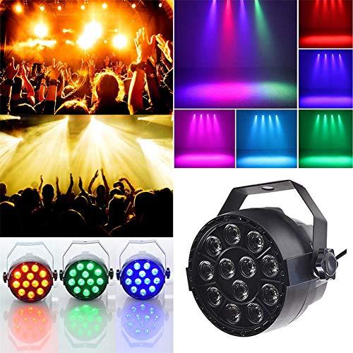 Supertop 12 LED-Par-Licht drehendes RGB 3 in 1 Stadium 18W DMX, das 4 Modi bunt für Club-Disco-Partei-Ballsaal KTV Bar Wedding DJ beleuchtet