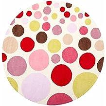 DT-ZZZ Alfombra, color de niño Círculo sala de estar rural Mesa de centro redonda Alfombra de la alfombra de la cama Diámetro 140cm Suave para la piel ( Tamaño : 100*100cm )