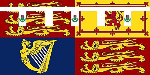 magFlags Bandera Large Royal Standard of Princess Eugenie of York | Royal Standard of Princess Eugenie | bandera paisaje | 1.35m²