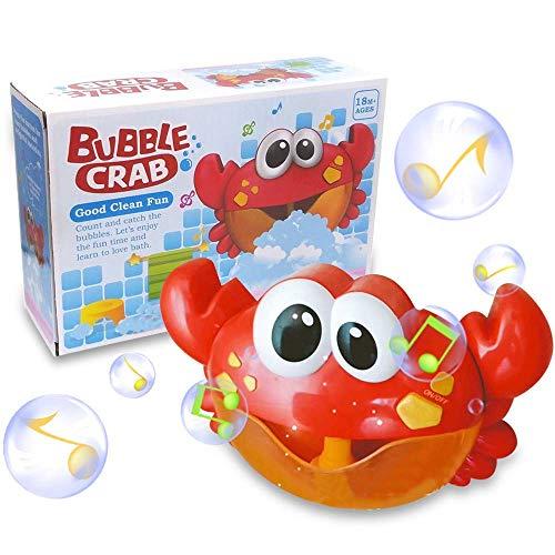 (ZHENDUO Baby Badewannenspielzeug Crab Bubbler Spielzeug Badewanne Seifenblasenmaschine Musik Bubble Machine Spielzeug Badewanne für die Baby Kleinkindspielzeug)