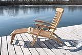 Teakholz Deck Chair mit Armlehne