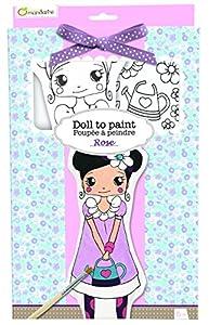 Avenida Mandarine Rose Pintar su Propia muñeca de Trapo (Negro / Blanco)