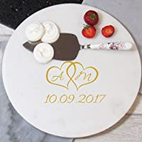 Hearts Personalised Marble Board, Personalised Wedding Gift, Anniversary Present