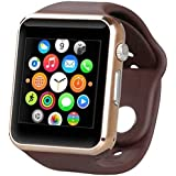 Smart Watch Smart Mobile Watch Inbuild Camera_Suppoting 3G/4G SIM,Memory Card, Compatible With Xiaomi And All Leading Brands Phone (SQ-GOLD)