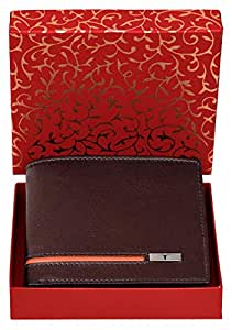 Urban Forest Stag RFID Blocking Brown Leather Wallet for Men - Packed in Traditional/Festive Box for Diwali Gifting