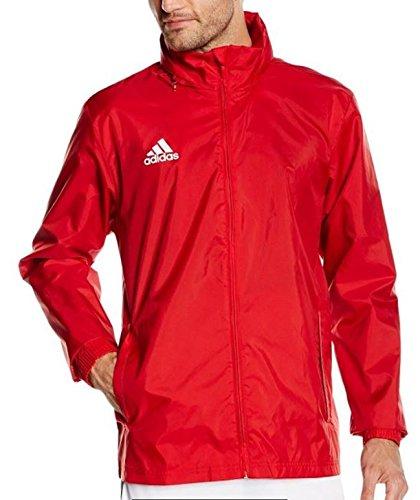 adidas Herren Regenjacke Core, power red/white, 2XL, S22278 Herren-regenjacken