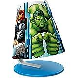 Philips Marvel Avengers - Lámpara de mesa infantil, luz blanca cálida, bombilla incluida de 3 W, color azul