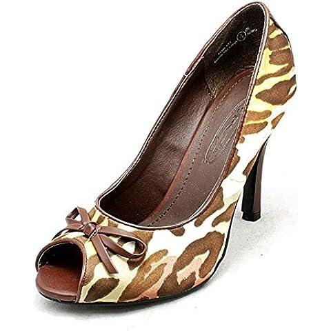 scarpe tacco alto tribunale signore modellato raso peep