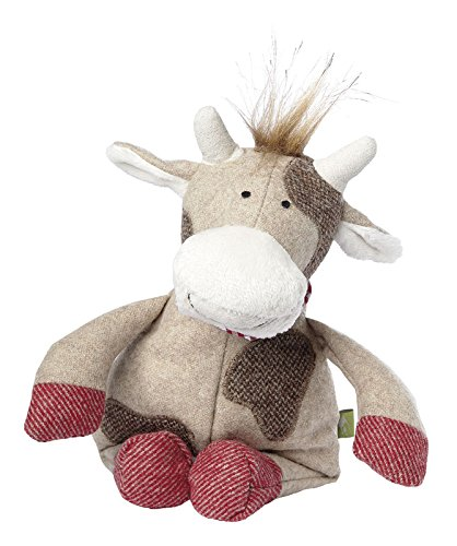 Sigikid 50105 - Mädchen und Jungen, Spielfigur Kuh klein, Mountain Beasts, beige/grau
