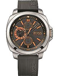 BOSS Orange Herren-Armbanduhr XL Brisbane Analog Quarz Silikon 1513101