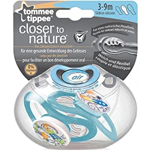 TOMMEE TIPPEE - 2 SUCETTES AIR SILICONE 3/9 MOIS GARCON