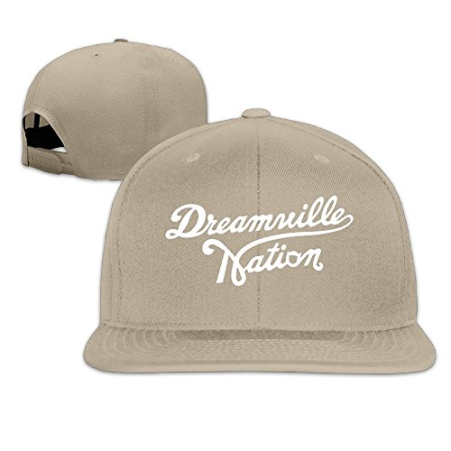 043e8f6a5d8 Facsea Runy Custom Dreamville Records Logo Adjustable Baseball Hat   Cap  Natural