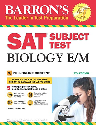 Barron's SAT Subject Test Biology E/M with Online Tests (Barron's Test Prep) - Act-test Barron