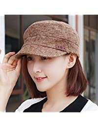 HAPPY-Cap Cappello Berretto Piatto a Molla Femminile Cappello Berretto  Inglese da Uomo Casual alla 3c4298d31b11