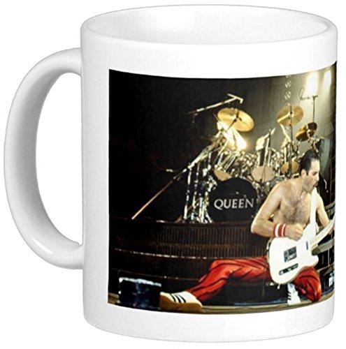 Queen, Freddie Mercury, Rock & Roll Hall of Fame Band, auf 325 ml Keramik-Kaffeebecher