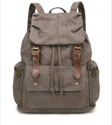 Xiuxiandianju 20L - 35L tempo libero uomo borsa grande tela borse a tracolla scuola borse , orange red Brown