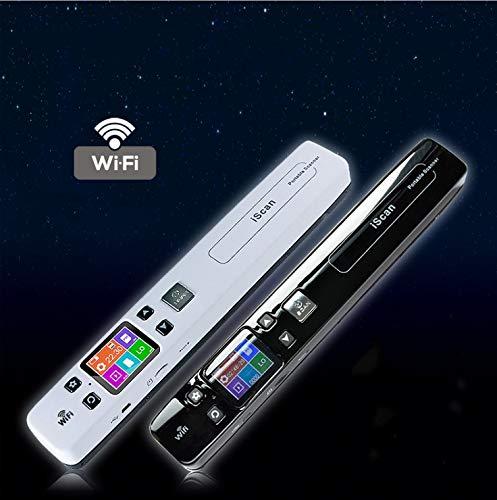 DishyKooker Tragbarer Handscanner A4-Dokumentenscanner für Foto-Quittungsbücher