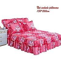 myonly - Falda para Cama de 150 x 200 cm, Estampado Floral, diseño de
