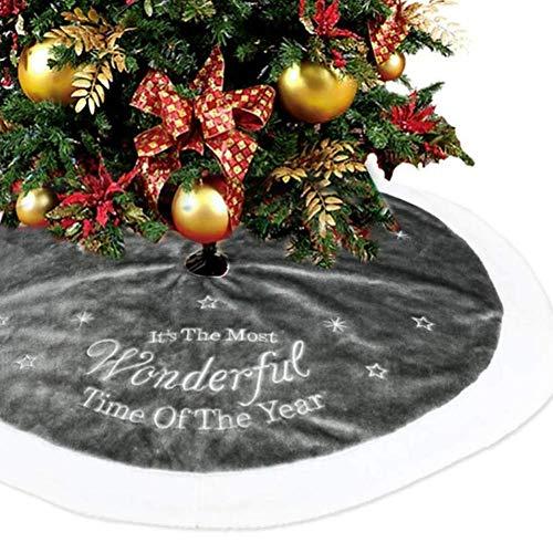 Falda Suave Del Árbol De Navidad De La Felpa