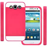 TPU Silikon Strass Glitzer H�lle H�llen Schutzh�lle Tasche Etui Protection Case Protective Cover f�r Samsung Galaxy S3 S III I9300 I9305 Rosa Rot+Rosa Pink+Wei�