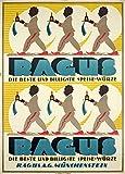 Vintage Lebensmittel und Konfekt Ragus, die beste und Billigste food-spice, Germany Kunstdruck 250gsm, Hochglanz, A3, vervielfältigtes Poster