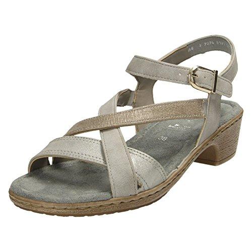 Jenny 22-53737-06, Sandales Pour Femme Gris