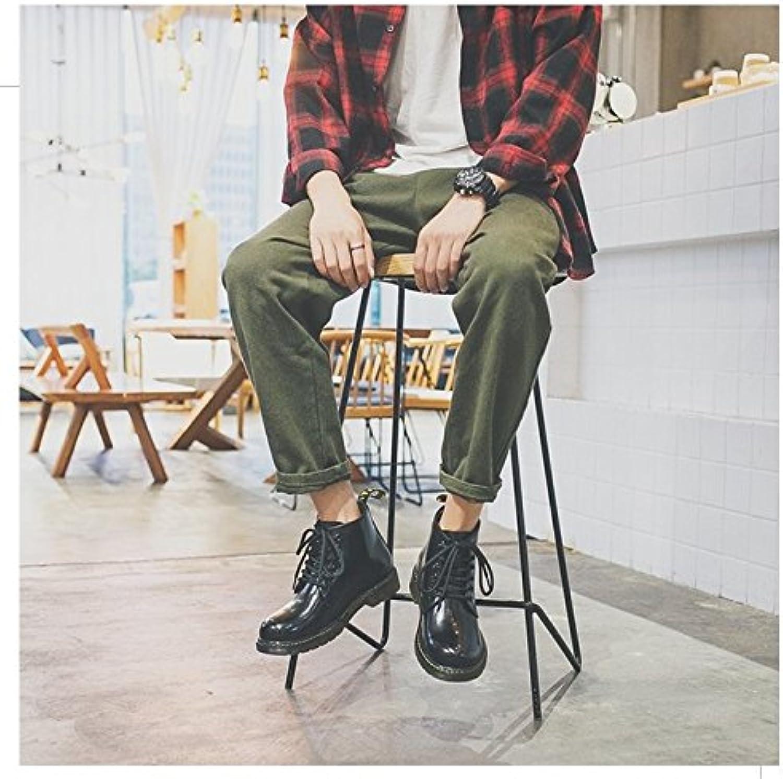 HL-PYL-Negro botas botas cortas, Moda grandes botas de barbecho y ayudar Ma Dingxue,41,negro