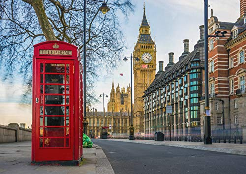 DV Posters A1 | London Big Ben Red Phone Box-Plakat-Druck 60 x 90 cm 180gsm Raum-Wand-Kunst-Dekor # 16075 Dv-matte Box