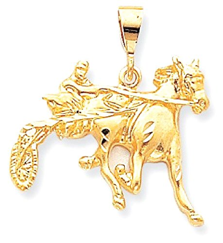 icecarats-10k-yellow-gold-horse-racing-necklace-pendant-charm