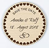 Manschin Laserdesign Save The Date - Magnet - Einladung - Hochzeitseinladung - Individuell graviert (150)