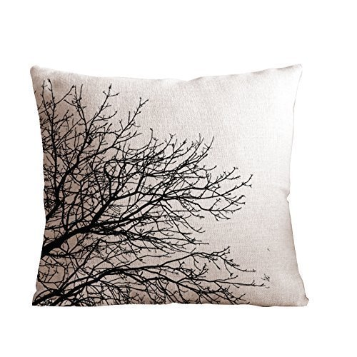 Pillow Covers Throw Pillow Cushion Cover Decorative Pillowcase -Black Tree Branch,Twin Sides Priting for Couch Sofa Or Bed Set Cozy Home Decor Size:16 X 16 Inches/40cm x 40cm -