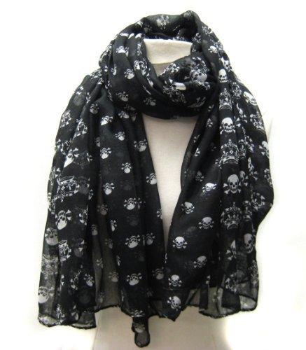 carefree-ultra-soft-and-cross-bone-skull-scarf-black-by-cozyline-by-chungun-inc