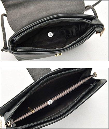 neue Paket Kuriertasche Leder Red Sechsteilige Handtaschen PU Schulter Frauen Mutter Sätze qUw1T1