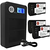 Dot-01 3X Brand 2400 Mah Replacement Canon Lp-e6 Batteries And Smart LCD Display Dual Charger For Canon Eos 70d Digital SLR Camera And Canon Lpe6