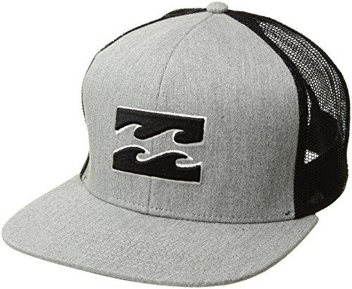 Billabong Men's All Day Trucker Hat, Grey Heather, ONE Billabong Black Hat