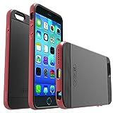 VENA [vFrame iPhone 6s Plus / 6 Plus Hülle - Aluminum Frame Dual Layer Slim-Fit Stylish Hybrid Schutzhülle TPU Case Abdeckung Shell für Apple iPhone 6s Plus / 6 Plus (5.5in) (Metal Rot)