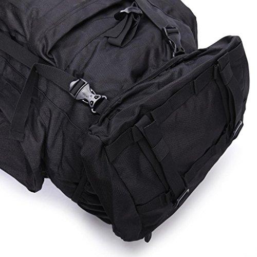 Local Lion borsone zaino unisex professionale impermeabile sportivo outdoor 85L (cachi) nero