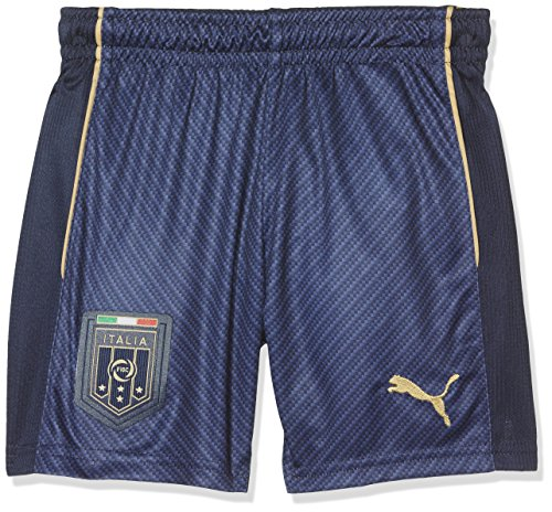 Puma Figc Tribute Away Pantaloncino Calcio Peacoat/Victory Gold - Blu (Peacoat/Victory Gold) - L