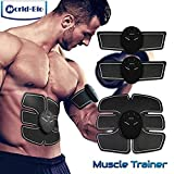 Elektrostimulation Muskelaufbau Muskelstimulation Bauchmuskeln Toning Gürtel, Arm/Bein/Taille Fitness Training Gear, Home Office Gym Workout Abnehmen Maschine, tragbare Wireless Body Stimulator Trainingsgerät Apparat für Männer Frauen