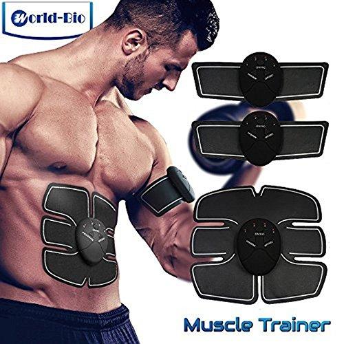 Electroestimulador Muscular EMS |Abdominales Estimulador Para Un Cuerpo Tonificado Y Definido |Fitness Toner Vientre Pierna Brazo Ejercicio