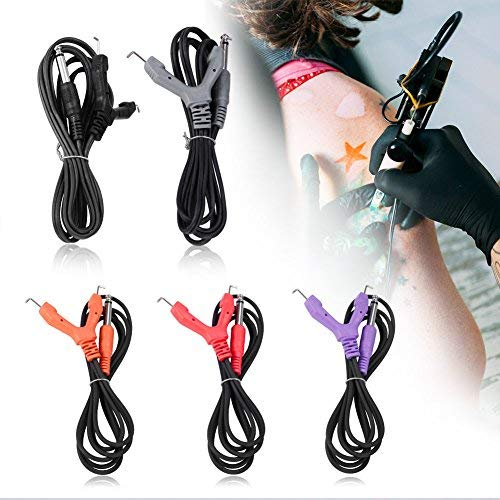 5 Farben Tattoo Clip, Clip Cord, Portable Mini Tattoo Power Supply Clip Cord Tattoo Kit Drive Rotary Tattoo Machine Clip Cord Power Supply für Elektrische Zuleitung Tattoo Maschinen -