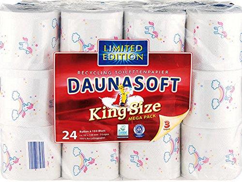 Einhorn LIMITED EDITION DAUNASOFT Toilettenpapier 24 Rollen a 150 Blatt MEGA PACK GESCHENKIDEE