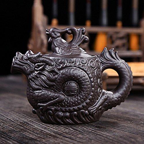 Keramik Tee topf Dragon Phoenix Tee wasserkocher tee-ei lila ton tee-set