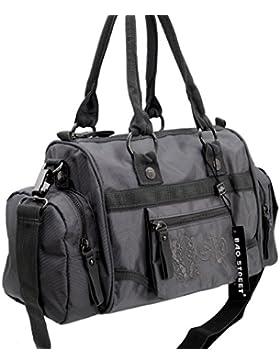 Jennifer Jones - modische sportliche Damen Handtasche Umhängetasche Bowlingtasche - präsentiert von ZMOKA® in...
