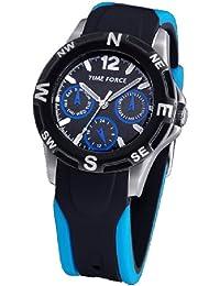 TIME FORCE Reloj De Pulsera Tf-3199B03 Cadete Acero Multifuncion 50M AZUL