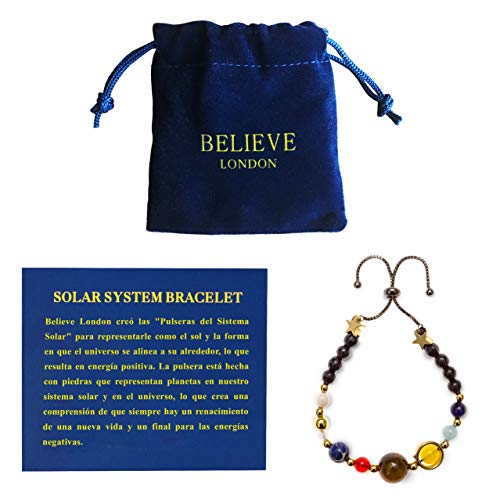 Believe London Solar System Bracelet (Cadena Negra Ajustable)
