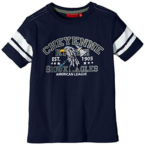 SALT AND PEPPER Jungen T-Shirt Indians uni Adler, Einfarbig, Gr. 104 (Herstellergröße: 104/110), Blau (indigo blue 476)